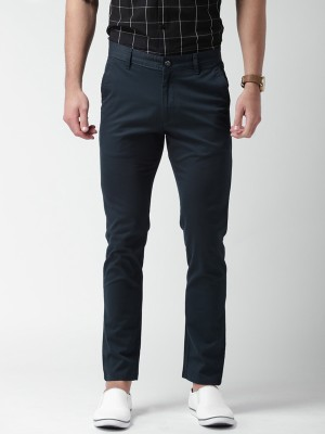 Mast & Harbour Slim Fit Men's Dark Blue Trousers