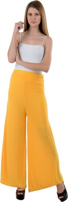 NumBrave Regular Fit Women's Yellow Trousers