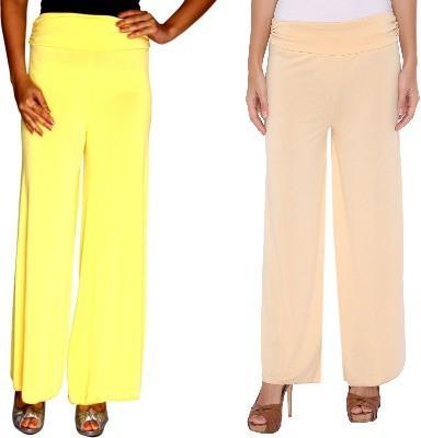 Zadine Regular Fit Women,s Yellow, Beige Trousers