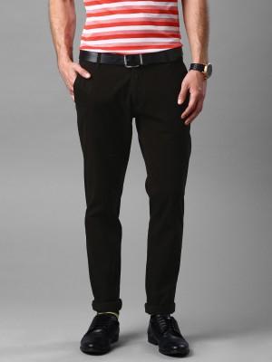 Invictus Slim Fit Men's Brown Trousers