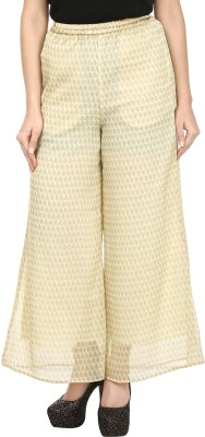 Le Luxe Regular Fit Women's Cream Trousers