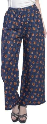 Stri Regular Fit Women's Dark Blue, Yellow Trousers