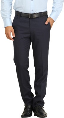 FranklinePlus Regular Fit Men,s Blue Trousers