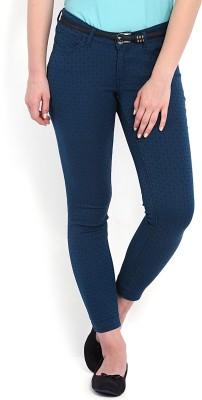 Tokyo Talkies Skinny Fit Women's Dark Blue Trousers