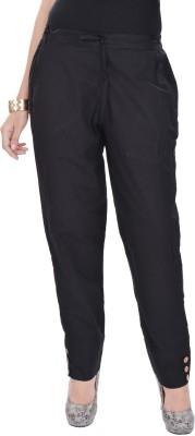 Poopii Regular Fit Women's Black Trousers