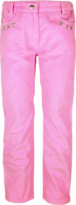 Caca Cina Regular Fit Girl's Pink Trousers