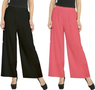 Civilized Showdown Regular Fit Women's Black, Pink Trousers