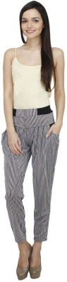 Icable Regular Fit Women,s Black Trousers