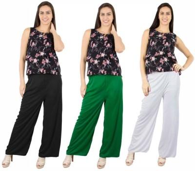 Fashion Flow+ Regular Fit Women's Black, Green, White Trousers