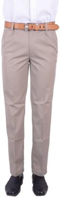 Logas Slim Fit Men's Beige Trousers