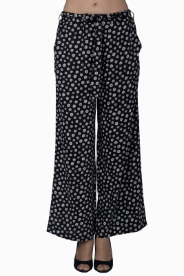 Miway Regular Fit Women's Black, White Trousers