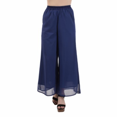 Le Luxe Regular Fit Women's Blue Trousers