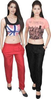 carrol Regular Fit Women's Black, Red Trousers