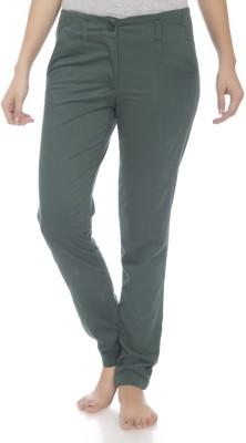 Clodentity Regular Fit Women's Dark Green Trousers