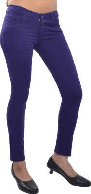 Devis Slim Fit Women's Blue Trousers