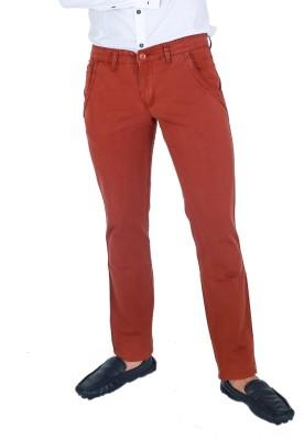 Monarch Regular Fit Men's Brown Trousers