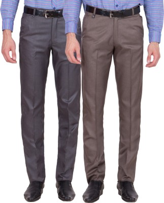Tiger Grid Slim Fit Men's Multicolor Trousers