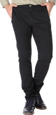 Slub By INMARK Regular Fit Men's Black Trousers