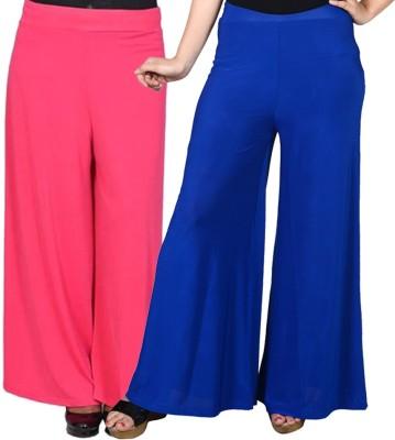 Grand Bear Regular Fit Women's Pink, Blue Trousers