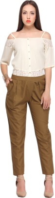 Nineteen Regular Fit Women's Brown Trousers