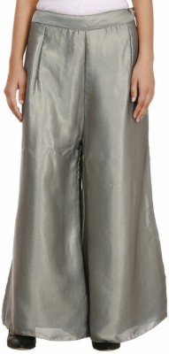 Pink n Lime Regular Fit Women's Silver Trousers