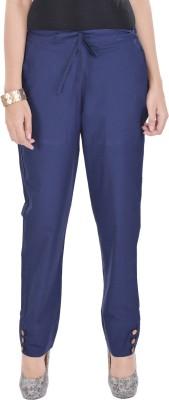 Poopii Regular Fit Women's Blue Trousers