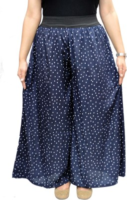 V3ishop Regular Fit Women's Blue Trousers