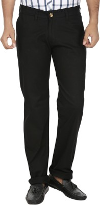 Regale Regular Fit Men's Black Trousers