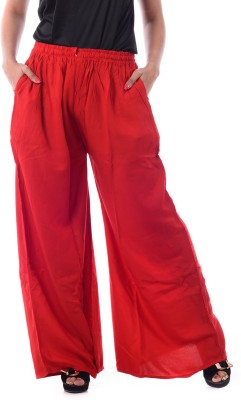 Patterns Lets Create Regular Fit Women's Red Trousers