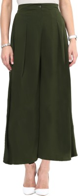 Uptownie Lite Regular Fit Women's Green Trousers at flipkart
