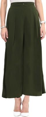 Uptownie Lite Regular Fit Women's Green Trousers at flipkart