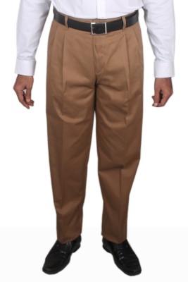 Maharaja Regular Fit Men,s Yellow Trousers