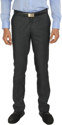 Zido Slim Fit Men's Blue Trousers
