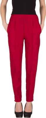 Castle Regular Fit Women's Maroon Trousers