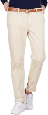 American Swan Slim Fit Men's White, Beige Trousers