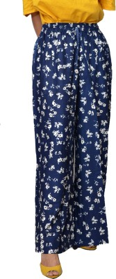 Crux & Hunter Regular Fit Women's Blue Trousers at flipkart