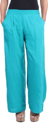 JaipurKurti Regular Fit Women's Blue Trousers