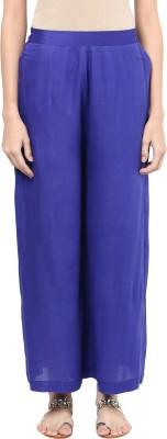 Indibox Regular Fit Women's Blue Trousers at flipkart