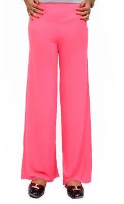 Lady in Red Regular Fit Women's Pink Trousers