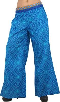 Pujarika Regular Fit Women's Blue Trousers