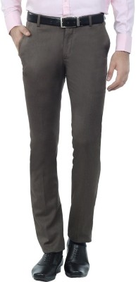 Shiksha Skinny Fit Men's Brown Trousers