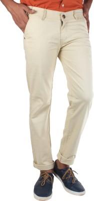 Bdow Slim Fit Men,s Beige Trousers