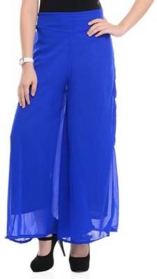 BuyNewTrend Slim Fit Women's Blue Trousers