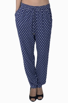 Miway Regular Fit Women's Blue, White Trousers