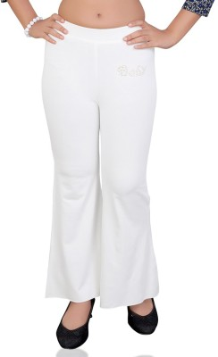 Mint Regular Fit Girls White Trousers