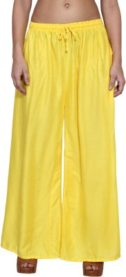 Both11 Regular Fit Women's Yellow Trousers