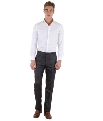 Coaster Slim Fit Men's Black Trousers