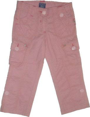 Red Rose Regular Fit Girls Pink Trousers