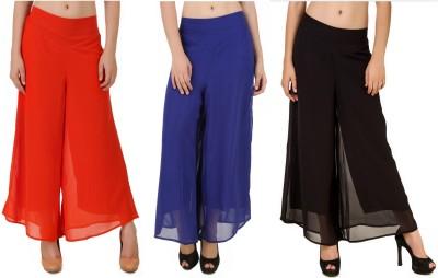 CHIKFAB Regular Fit Women's Blue, Orange, Black Trousers