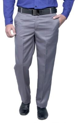 RICH PERK Regular Fit Men's Grey Trousers